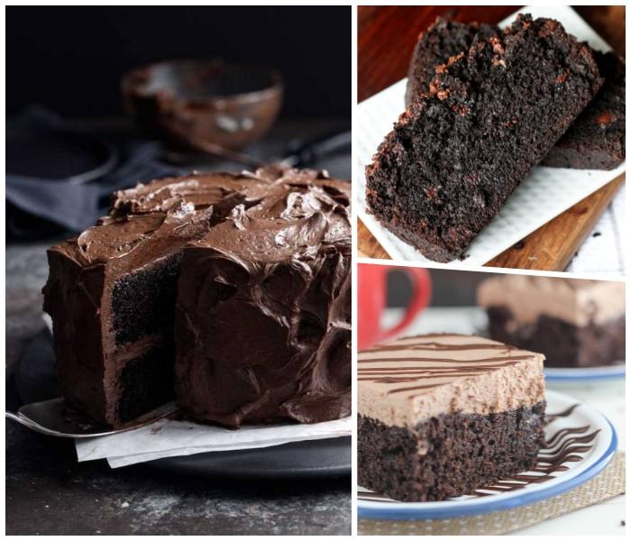 eifacher schokoladenkuchen rezepte, schnelles dessert ideen, kuchen bestreicht mit schokoladensahne