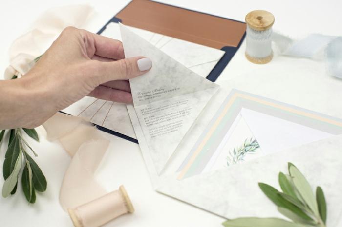 ein Gedicht in der Einladungskarte schreiben, Einladungskarten selber basteln und falten