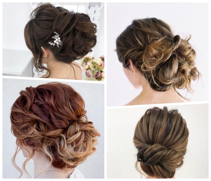 abschlussball frisuren für lange haare, festliche lockhaarfrisuren, haarstyles