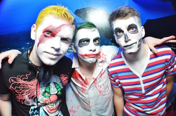 halloween make up einfach ideen für freunde, männer schminken sich selber, einfache schminkideen