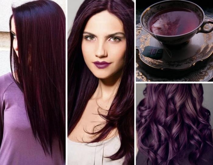 lila haarfarbe drei gestaltungen ideen und inspiration von der küche tee aus pflaumen