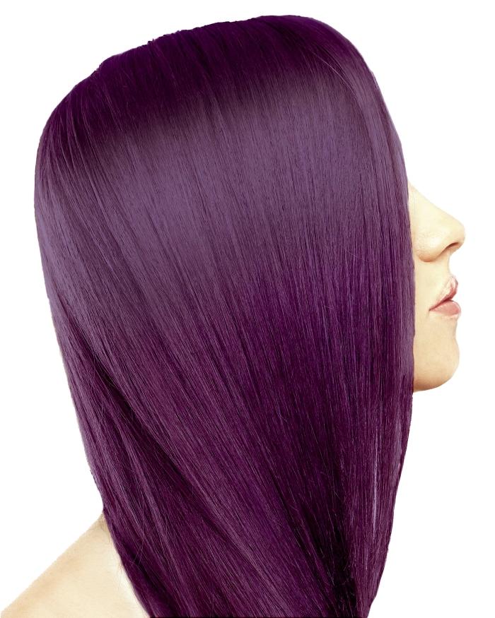haarfarbe lila glattes haar selber machen ideen für damen, akzent auf die gesunde und glänzende haare