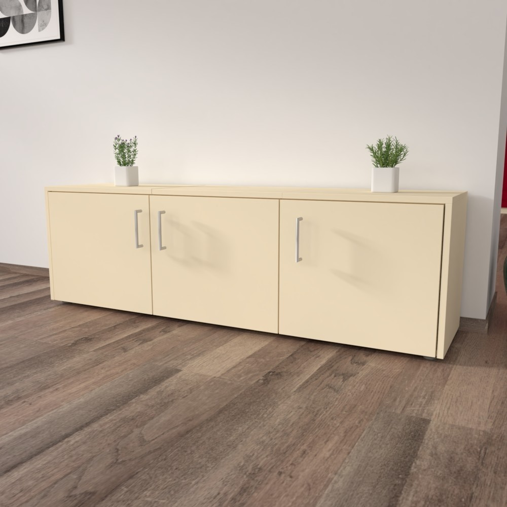 TV Möbel, Lowboard mit zwei Vasen