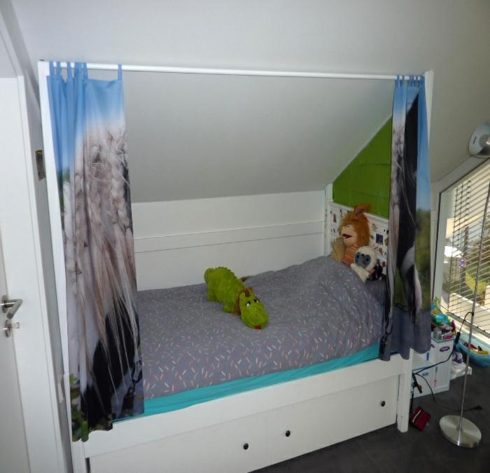 Vorhänge im Kinderzimmer, Schiebvorhang