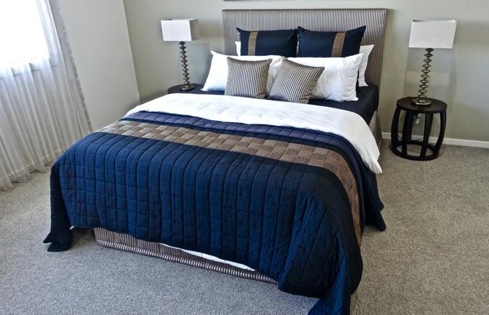 Schlafzimmer Luxus Trends - blaue Decke