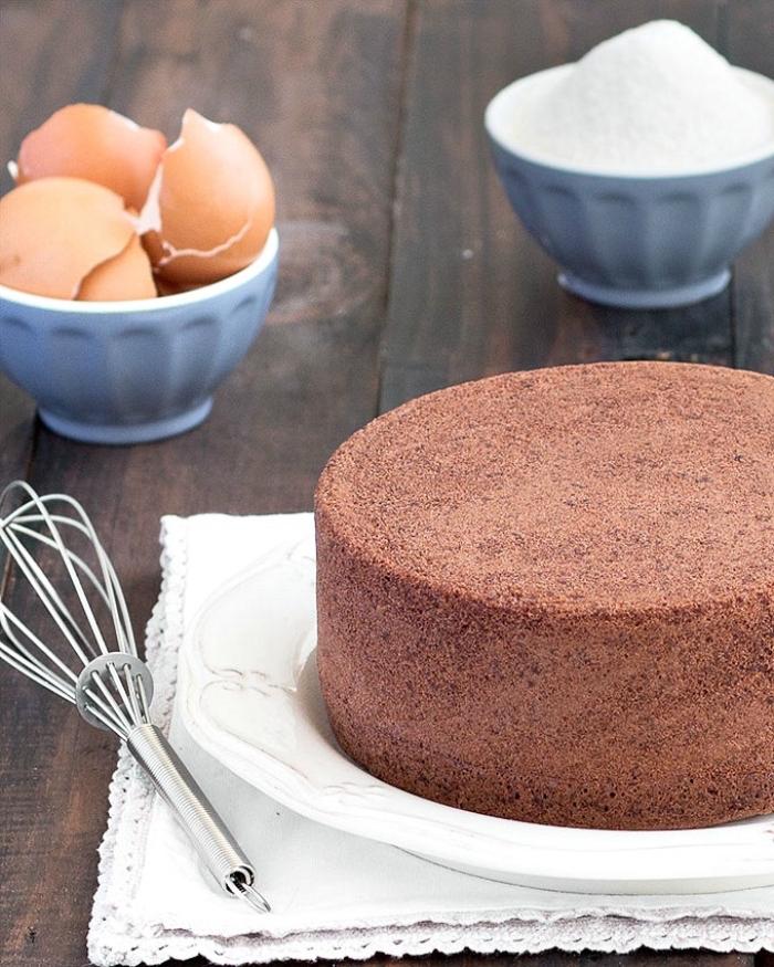 kuchen mit schokolade zubereitungsweise, schokokuchen mit kakao, schüssel mit eierschalen