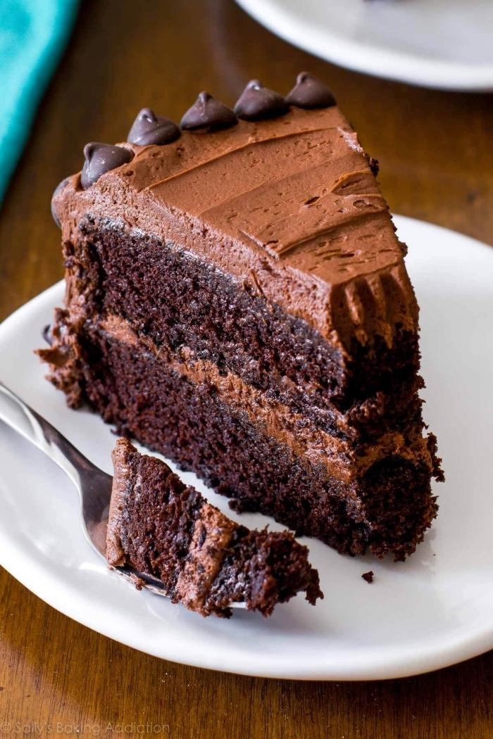 schokokuchen rezept einfach und schnell, tortenboden mit kakao, geburtstagstorte