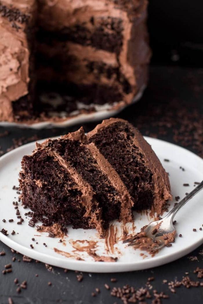 schokoladenkuchen saftig, geburtatagstorte ideen, torte mit schokolade und kakao