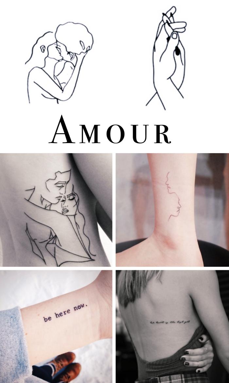tattoo unterarm, verliebte gesichter, hand in hand, liebesgestaltung, aufschriften