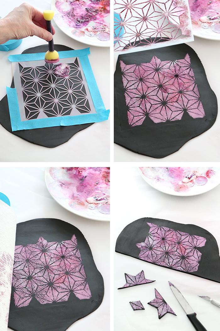torten dekorieren, geometrische elemente, rosa glitzer, geburtstagstorte selber machen