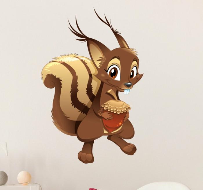 Wandsticker für Kinderzimmer Eichhörnhen