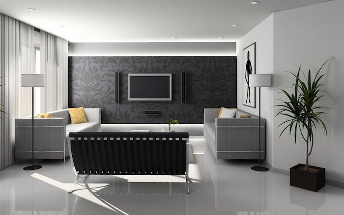 Wohnzimmer in Grau einrichten, Schritt mit den neuesten Wandfarben Trends halten