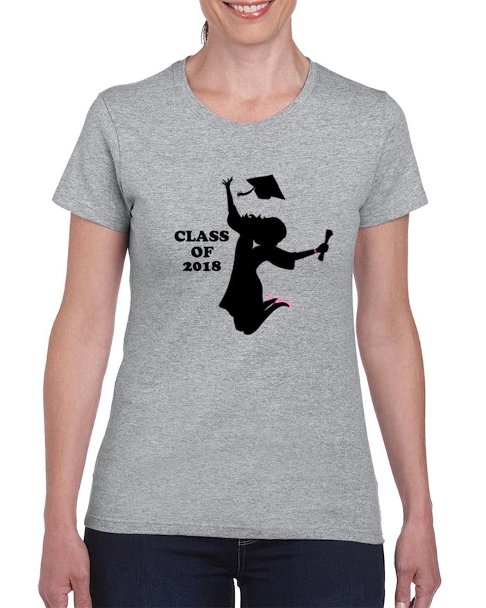 Abi-Shirt für Mädchen in Grau, das perfekte Modell auswählen, was ist zu beachten