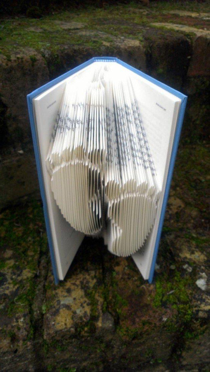 ein Tagebuch von Baby wie ein Paar kleine Füße gefaltet, Bücher falten zu Babyparty