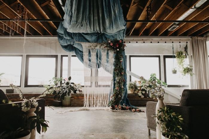 makramee anleitung ideen zum dekorieren eines raumes, retro stil vintage deko