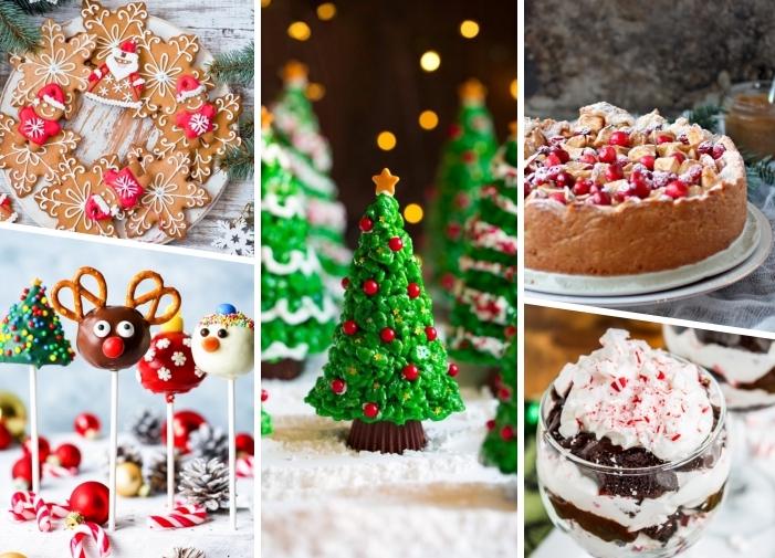 festliche nachspeisen weihnachten, weihnachtsdessert rezepte, keksen in den form von schneeflocken, cake pops