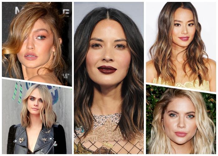 haarfarben ausprobieren, trendige haarschnitte und farben, make up tipps für die verschiedene augenfarben