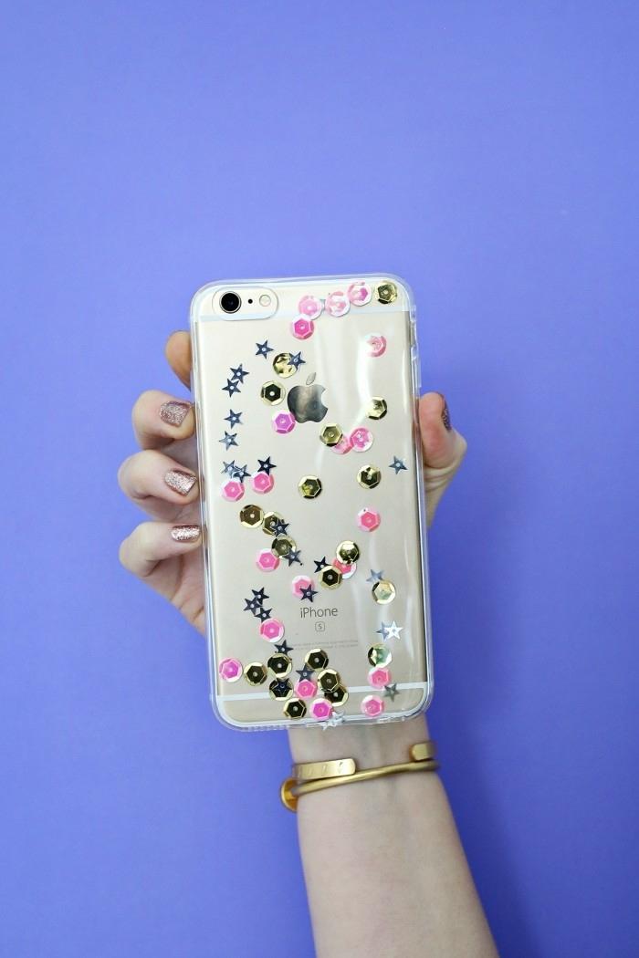 bildschöne personalisierte Handyhülle von IPhone, durchsichtige Handyhülle mit kleinen Aufklebern