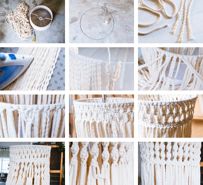 makramee lüster selber machen, die schritte zum perfekten lampendesign nur aus stoff