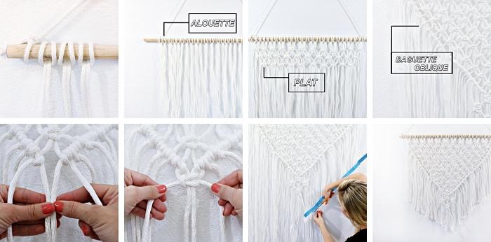 makramee selber stricken, sie brauchen ein stocher, faden oder stoff, schere, lineal und platz an der wand zum auhängen