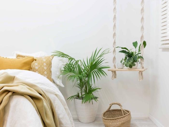 makramee garn, kreative ideen zum gestalten von makramee dekorationen, blumentopf, blumen deko