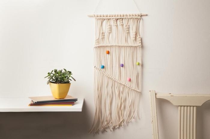 makramee anleitung kostenlos ideen, schlnes design mit bunten perlen diy