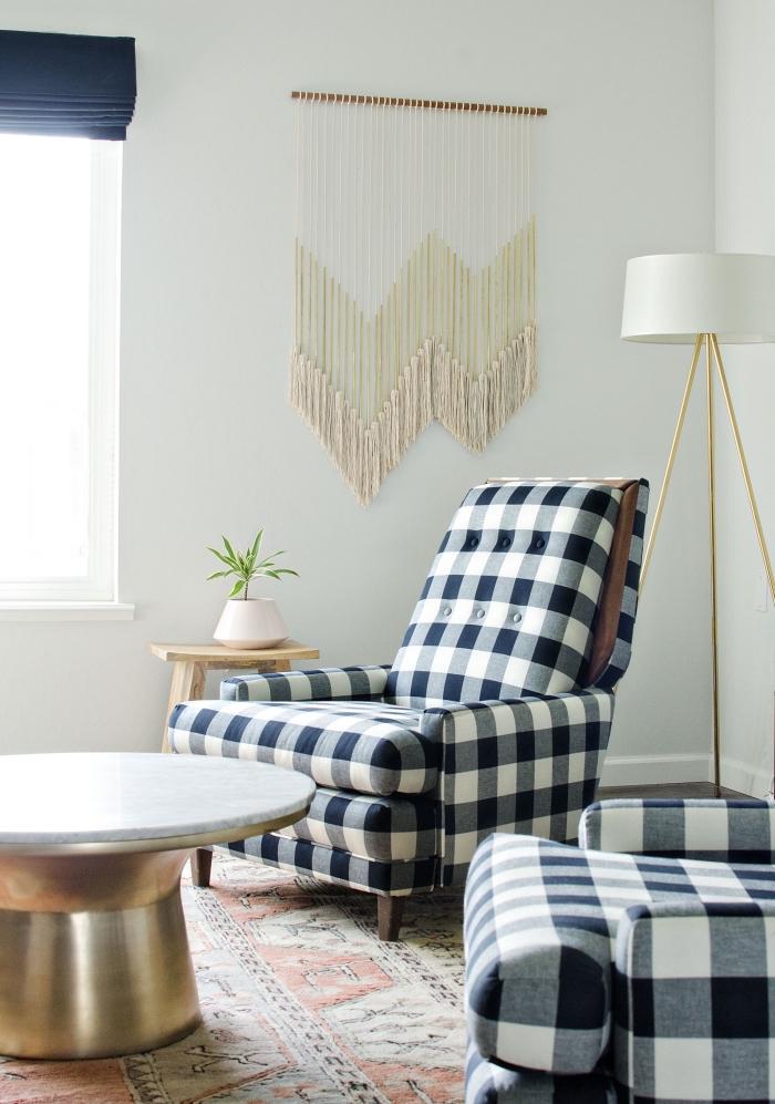 makramee vorhang ideen, dekoration orientalisch im stilvollen minimalistischen zuhause