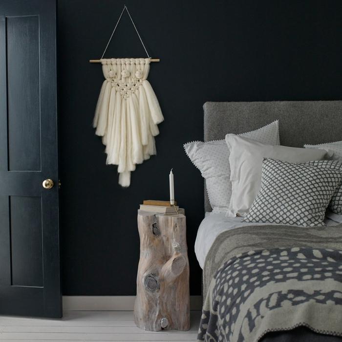 makramee anleitung kostenlos idee mit dickem stoff weiße makramee designs im schlafzimmer