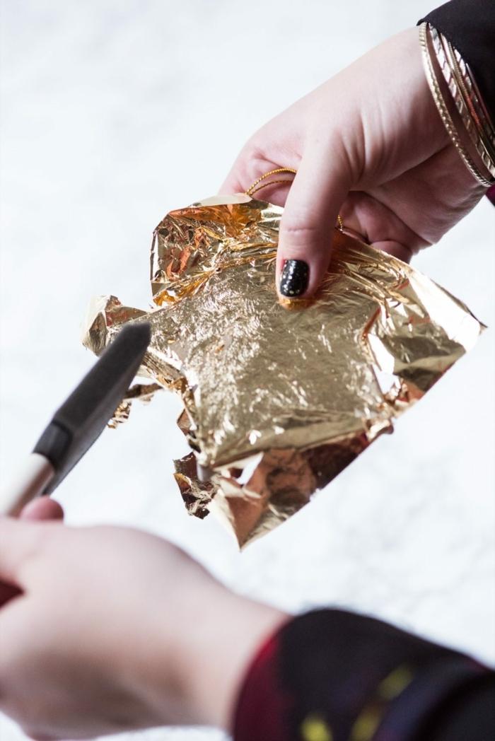 1001 ideen zum weihnachtssterne basteln zum erstaunen - Blattgold basteln ...