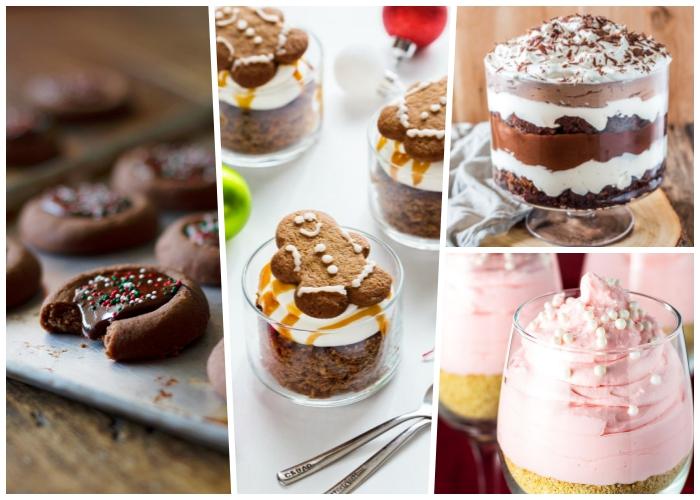 nachtisch im glas rezepte, schooladenkeksen mit schokoladenganache, schichtdessert im glas, rosa creme