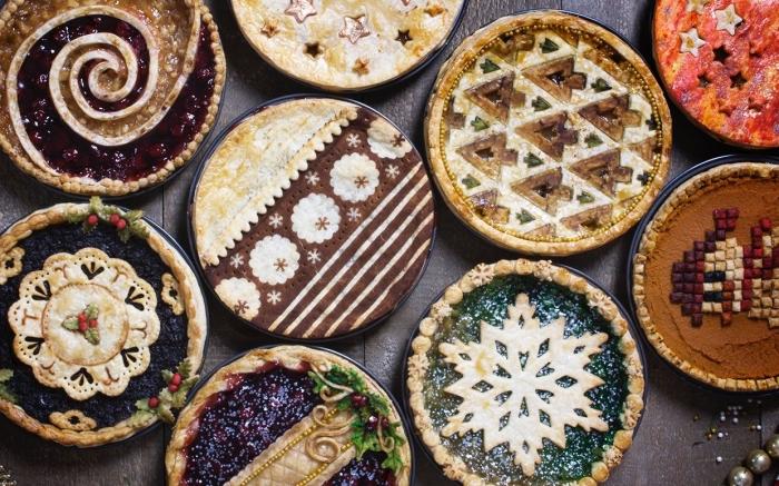 nachtisch weihnachten, kuchen mit blaubeeren marmelage, pie rezepte, weihanchtsdessert einfach