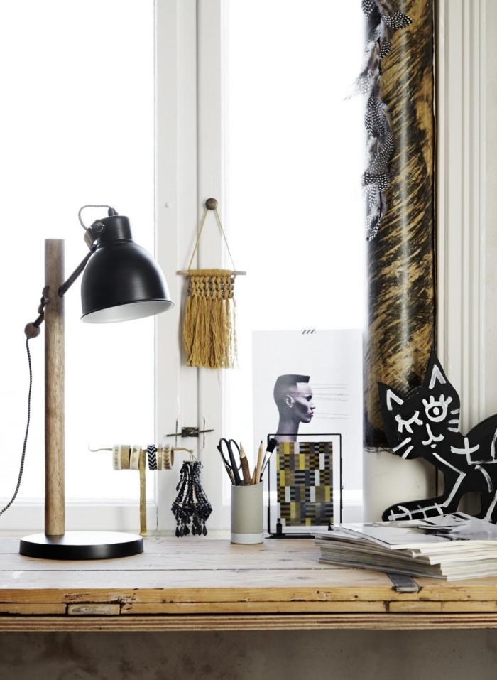 makramee schmuck idee, deko lampe, lüster dekorieren und verzieren, schöne wohnideen
