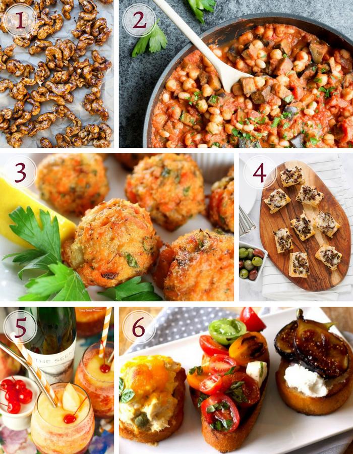 party essen schnell, bällchen mit käse, brotscheiben mit verschiedenen zutaten, partyrezepte