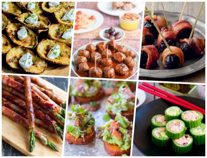 partyrezepte mit fleisch, spargeln mit bacon, fleischbällchen mit tomatensoße, gutken mit frischkäse