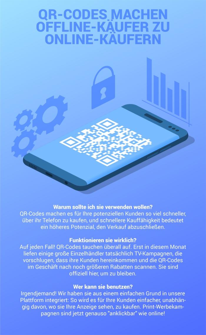 qr code nutzen und verwendung, online marketing, käufer vermehren, handy