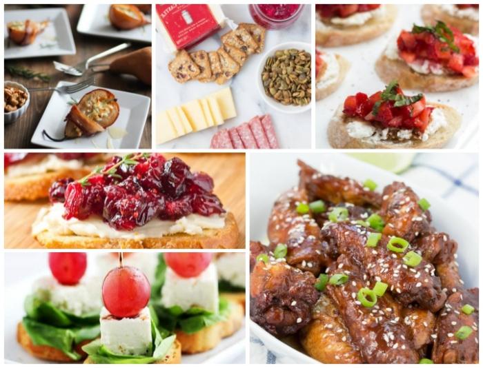 partyessen zubereiten, rezepte für gäste, fleisch mit sojasoße, süße bruschettas, salami