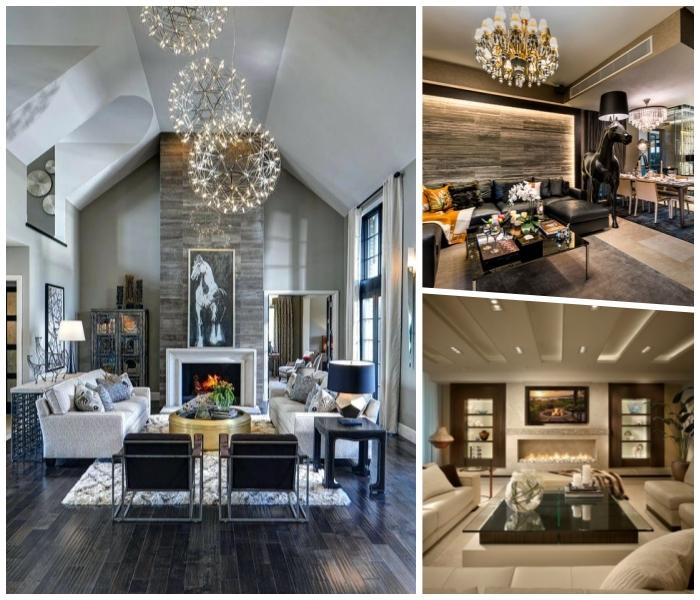1001 ideen f r eine moderne und stilvolle wohnzimmer deko - Hohe wand dekorieren ...