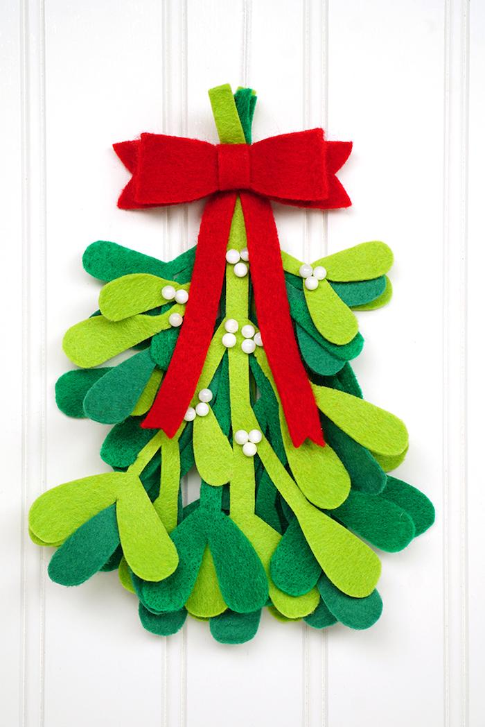 Weihnachtsdekoration aus Filz basteln, DIY Ideen für Kinder und Erwachsene zum Nachmachen