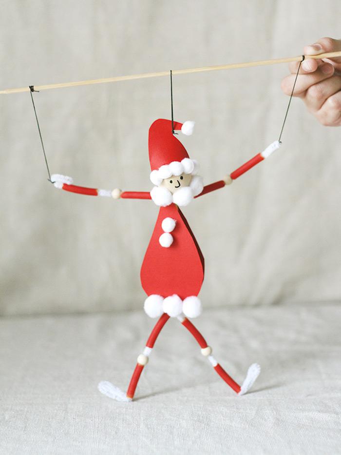 Weihnachtsmann basteln mit Kindern, Basteln mit Kindern für Weihnachten, DIY Weihnachtsdeko