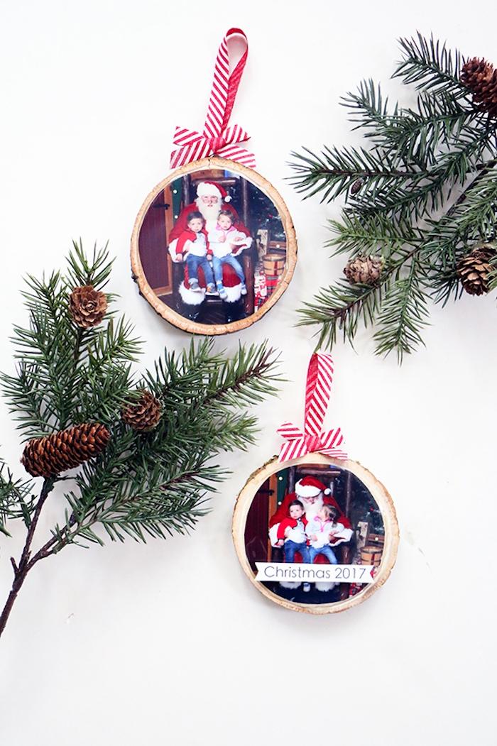 Personalisierte Anhänger für den Weihnachtsbaum selbst gestalten, Anhänger mit Fotos