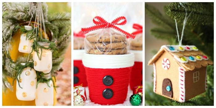 basteln mit einmachgläsern, diy laternen, weihnachtsdeko selber basteln, haus aus filz