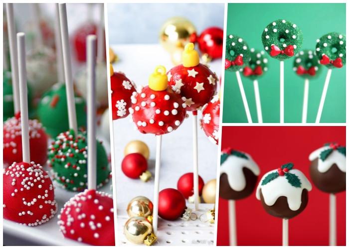 weihnachtsdessert zum vorbereiten, cake pops selber machen und dekorieren, festliche nachspeise