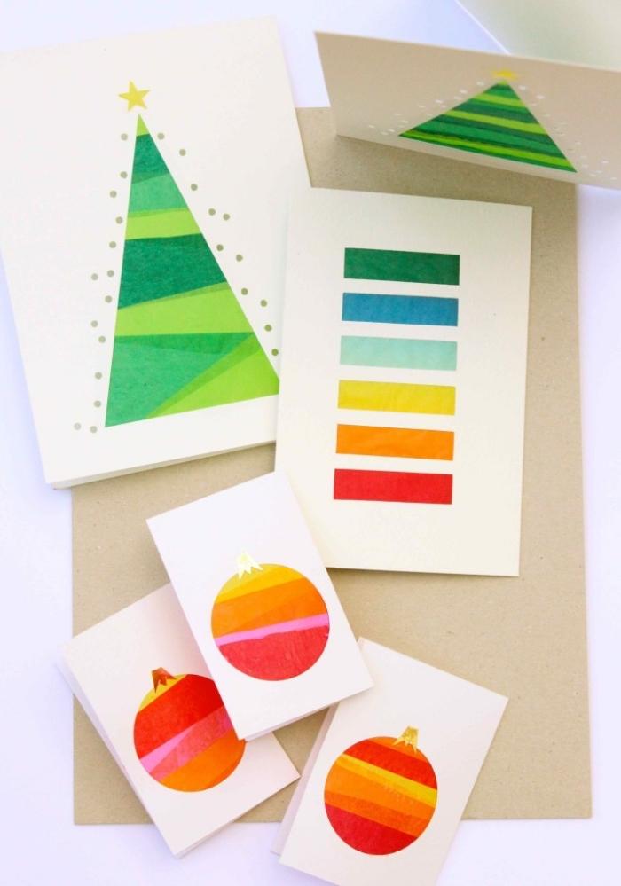 weihnachtsgeschenke selber machen, karten basteln, diy ideen zu weihanchten