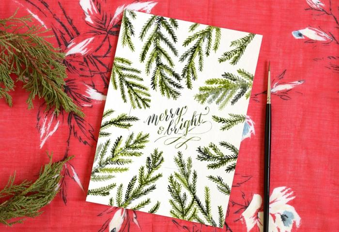 die schöne Karte, die später auch als Tannenbaumdeko zu benutzen ist, Weihnachtskarten selbst gestalten