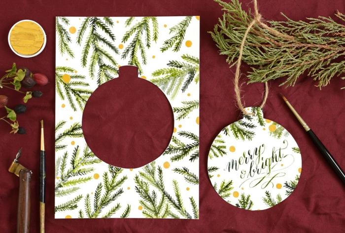 jetzt zeigen wir gerne, wie die Weihnachtskarte als Dekoration verwenden können, Weihnachtskarten selbst gestalten