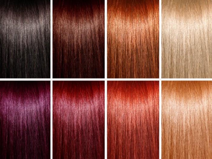 welche haarfarbe steht mir, verschiedene kalte und warme nunancen, trendige haartöne