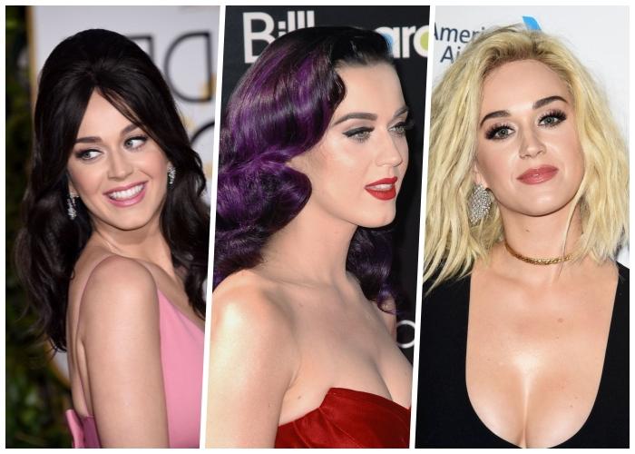 welche haarfarbe steht mir, katy perry haarstyles, haare fäbern, trendige haarschnitte und farben