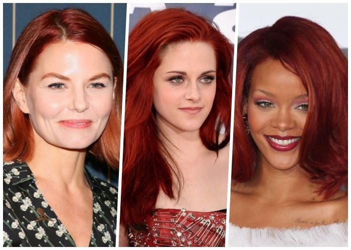 rote haare mit kupferfarbigen nuancen, welche haarfarbe steht mir, haare färben nach dem hautton