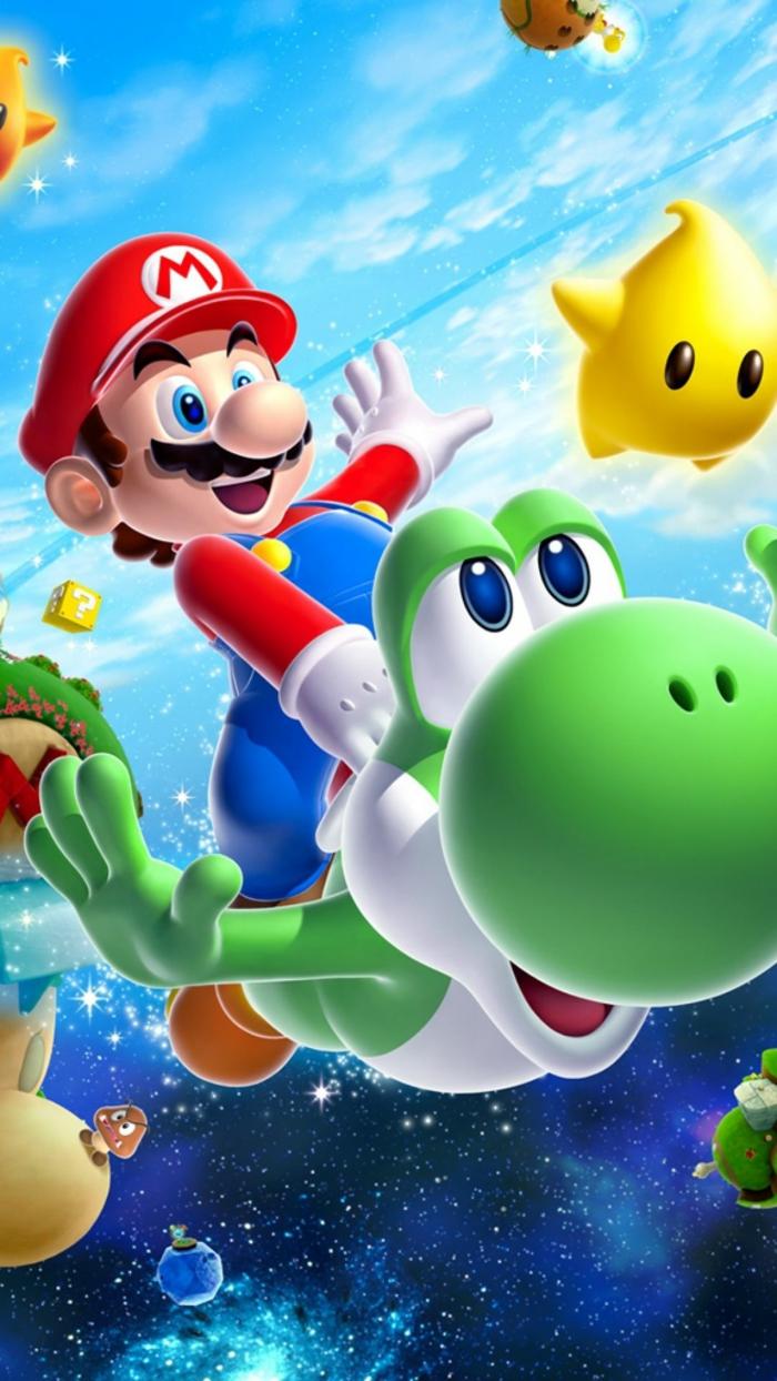 hintergrundbilder kostenlos herunterladen, supermario foto, er reitet eine schildkröte, wasser, kosmos, welt ausdenken