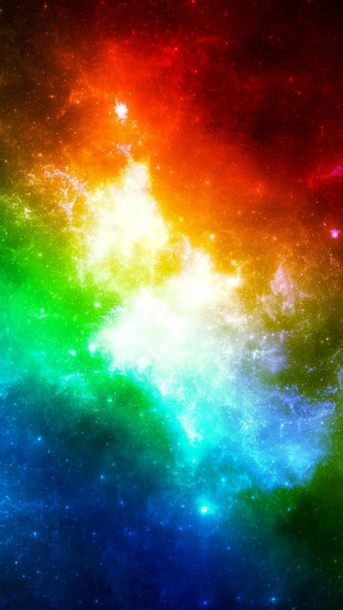 schwarzer Hintergrund, rote, blaue und andere Farben, ein Bild von dem Kosmos, schöne Hintergrundbilder